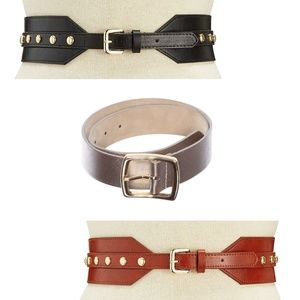 NWT Lot of 3 INC Int'l Concepts Designer Belts